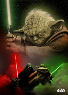 Star Wars Metal Poster Yoda 32 x 45 cm