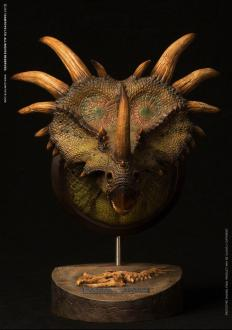 Paleontology World Museum Collection Series Bust Styracosaurus Green Ver. 27 cm