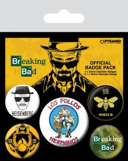 Breaking Bad Pin Badges 5-Pack Los Pollos Hermanos
