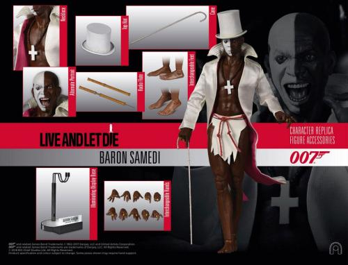 James Bond Live and Let Die Collector Figure Series Action Figure 1/6 Baron Samedi 30 cm