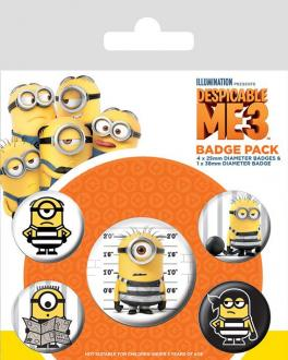 Despicable Me 3 Pin Badges 5-Pack Breakout