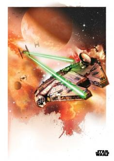 Star Wars Metal Poster The Millennium Falcon 32 x 45 cm