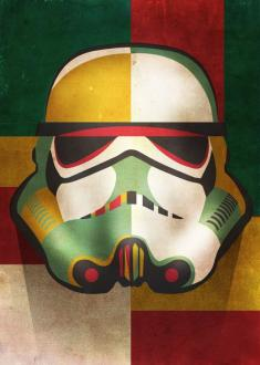 Star Wars Metal Poster Masked Troopers Shapes 32x45 cm