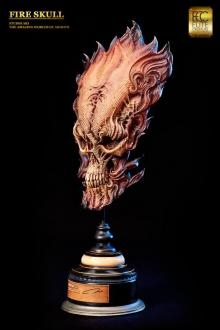 Fire Skull Life-Size Bust by Akihito 66 cm