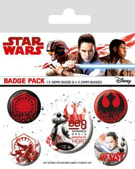 Star Wars Episode VIII Pin Badges 5-Pack Resist