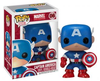 Marvel Comics POP! Vinyl Bobble-Head Captain America 10 cm - Funko