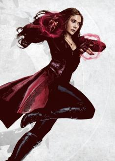 Marvel Comics Metal Poster Scarlet Witch 32 x 45 cm