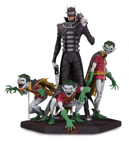 Dark Nights Metal Deluxe Statue Batman Who Laughs & Robin Minions 21 cm