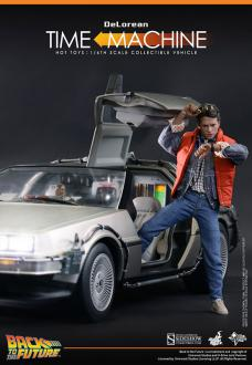Back to the Future 1/6 DeLorean Time Machine 72 cm HT