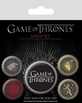 Game Of Thrones Pin Badges 5-Pack Great Houses